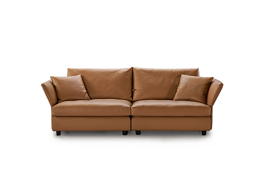 Leather sofa and loveseat set S972
