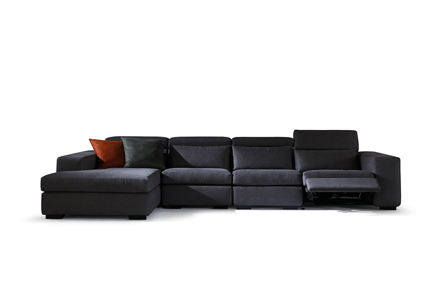 fabric sofas with recliners S1601