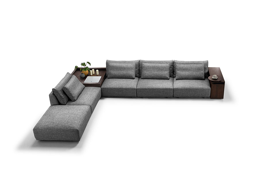 sectional sofa with ottoman S1606B top view