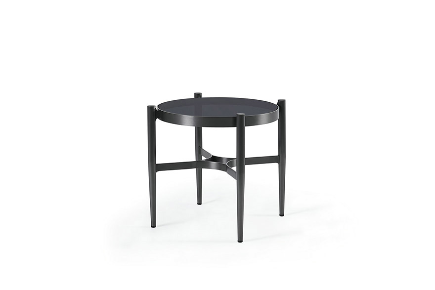 Small Round Glass Coffee Tables Rheims Metal Frame