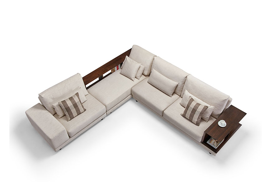 wooden arms sofa S1701